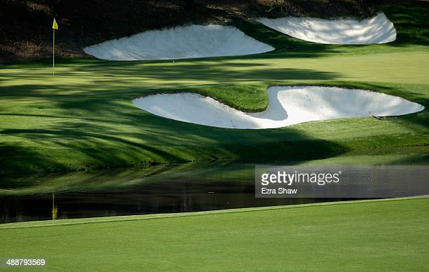 A general view of the 12th hole green prior to the start of the 2014 Masters Tournament at Augusta National Golf Club on April 9 2014 in Augusta...