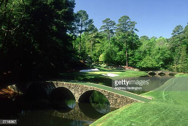 General view of the 12th hole taken during the 2000 US Masters held in April 2000 at the Augusta National Golf Club in Augusta Georgia USA