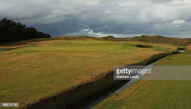 A general view of the 13th green during the Glenmuir PGA Professional Championship at Dundonald Links on June 18 2009 in Dundonald Scotland