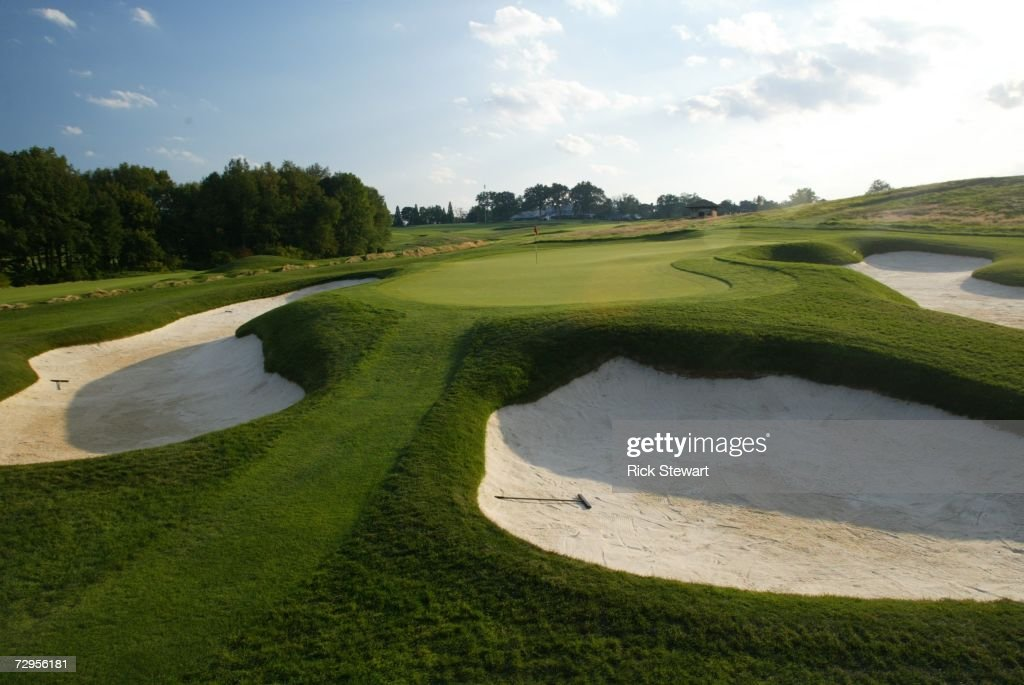 General view of the 13th hole at Oakmont Country Club site of the 2007 US Open on September 26 2006 in Oakmont Pensylvania