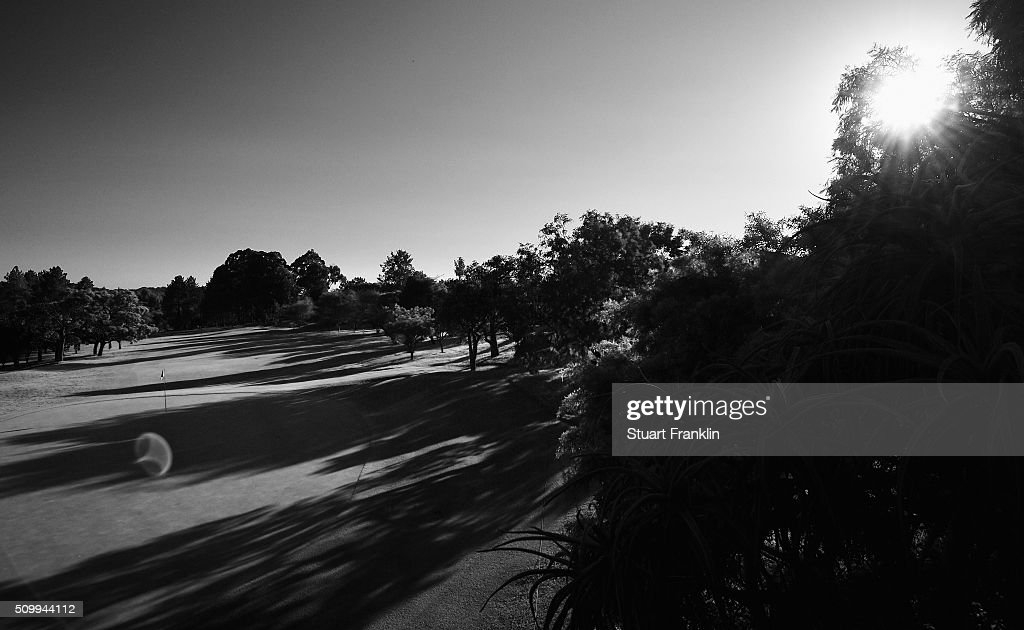 A general view of the 13th hole before the third round of the Tshwane Open at Pretoria Country Club on February 13, 2016 in Pretoria, South Africa.