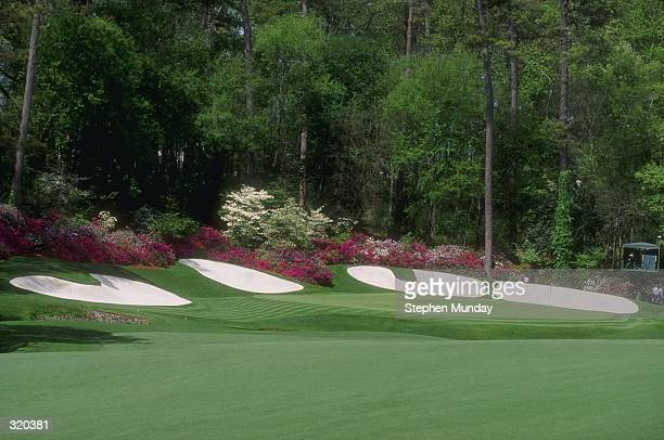 General view of the 13th hole during at Augusta National Golf Course in Augusta Georgia Mandatory Credit Steve Munday /Allsport