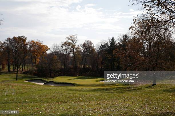 A general view of the 13th hole during Curtis Cup practice at Quaker Ridge GC on November 22 2017 in Scarsdale New York