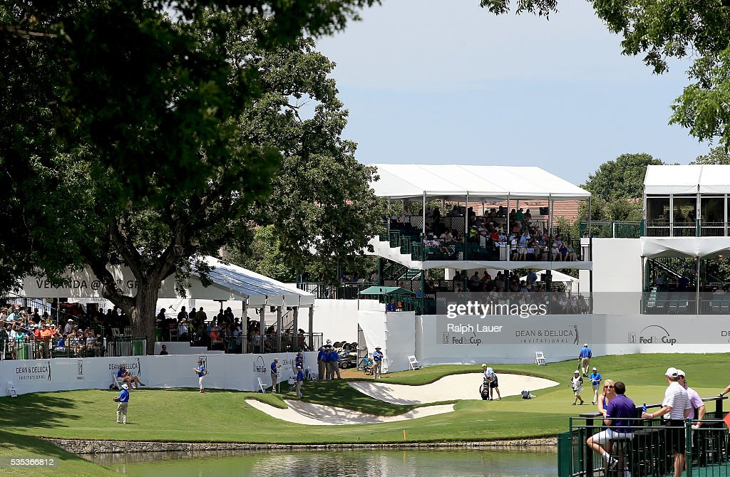 A general view of the 13th hole during the DEAN & DELUCA Invitational at Colonial Country Club on May 29, 2016 in Fort Worth, Texas.