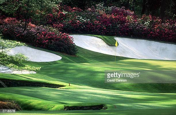 General view of the 13th hole taken during the 1996 US Masters held in April 1996 at the Augusta National Golf Club in Augusta Georgia USA