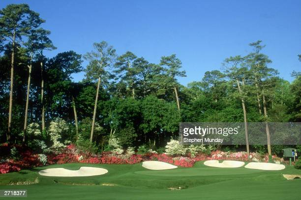 General view of the 13th hole taken during the 2000 US Masters held in April 2000 at the Augusta National Golf Club in Augusta Georgia USA