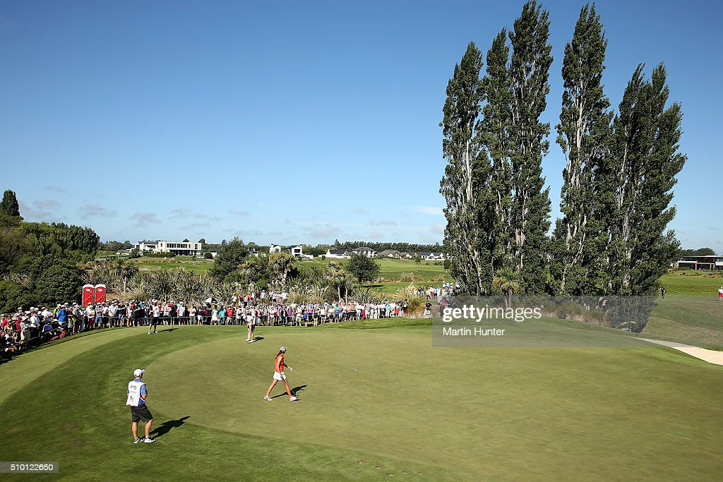 General view of the 14 hole during the New Zealand Women's Golf Open at Clearwater Golf Club on February 14, 2016 in Christchurch, New Zealand.
