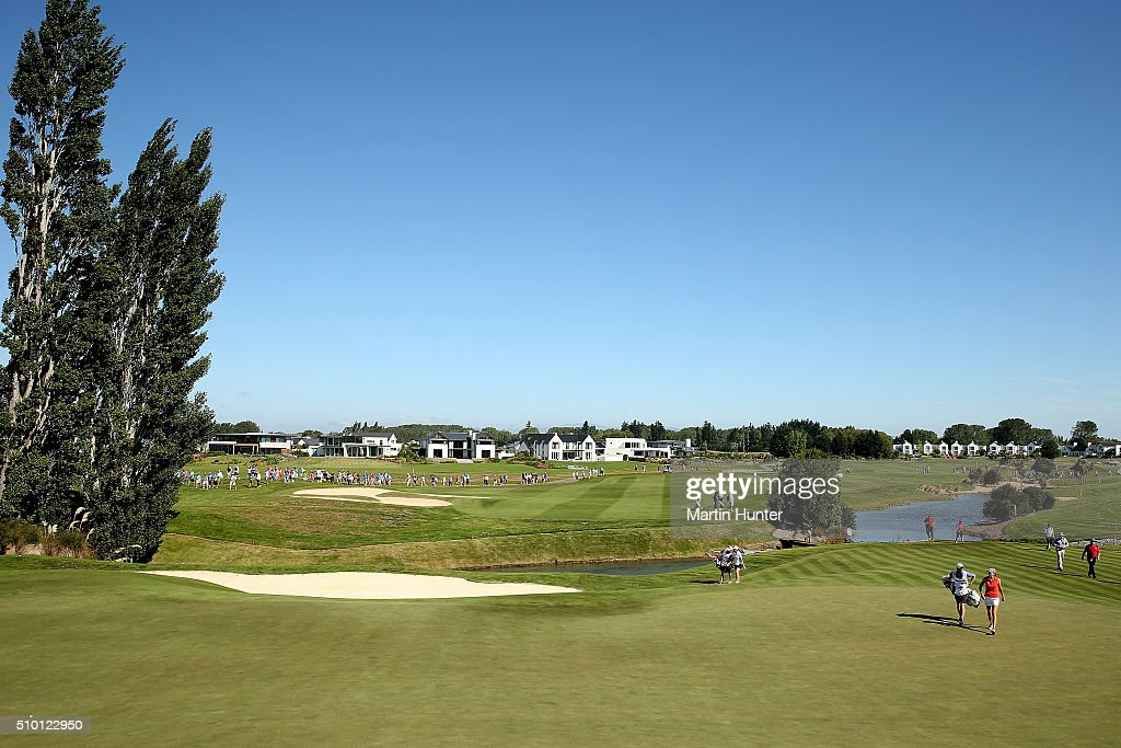 General view of the 14 hole during the New Zealand Women's Golf Open at Clearwater Golf Club on February 14 2016 in Christchurch New Zealand
