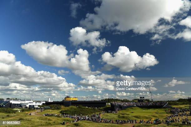 A general view of the 14th green and surroundings during the first round of the 146th Open Championship at Royal Birkdale on July 20 2017 in...