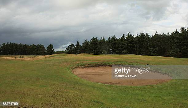 A general view of the 14th green during the Glenmuir PGA Professional Championship at Dundonald Links on June 18 2009 in Dundonald Scotland
