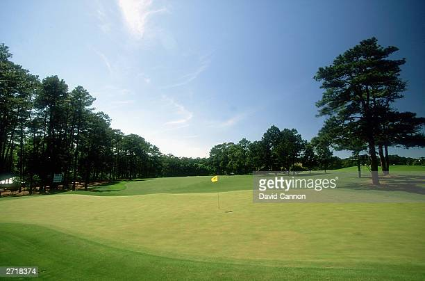 General view of the 14th green taken during the 1997 US Masters held on April 9 1997 at the Augusta National Golf Club in Augusta Georgia USA