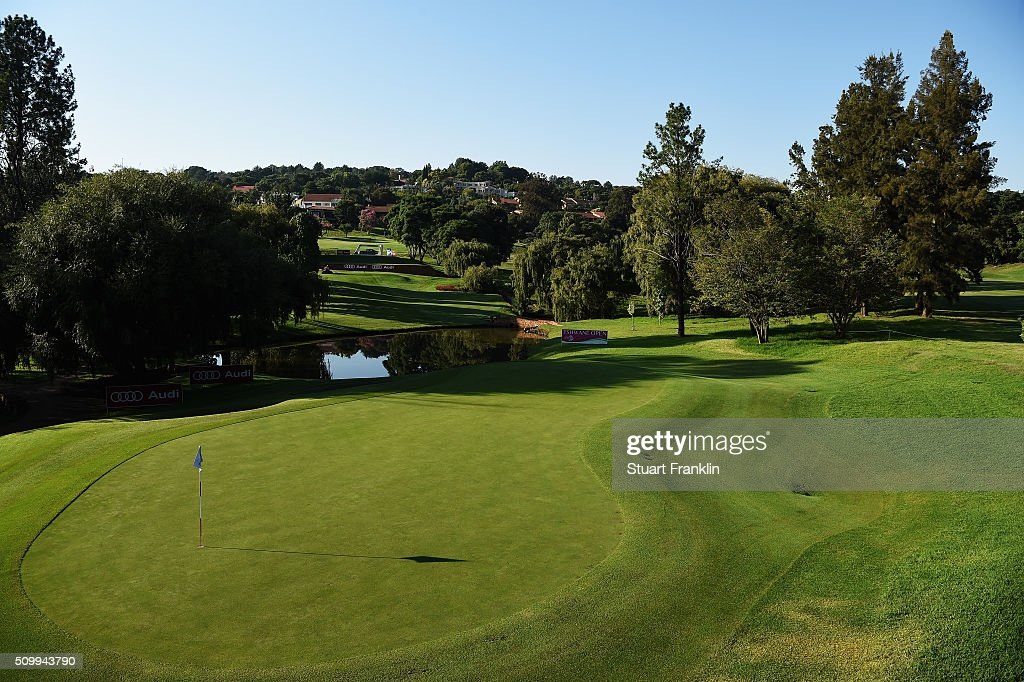 A general view of the 14th hole before the third round of the Tshwane Open at Pretoria Country Club on February 13, 2016 in Pretoria, South Africa.
