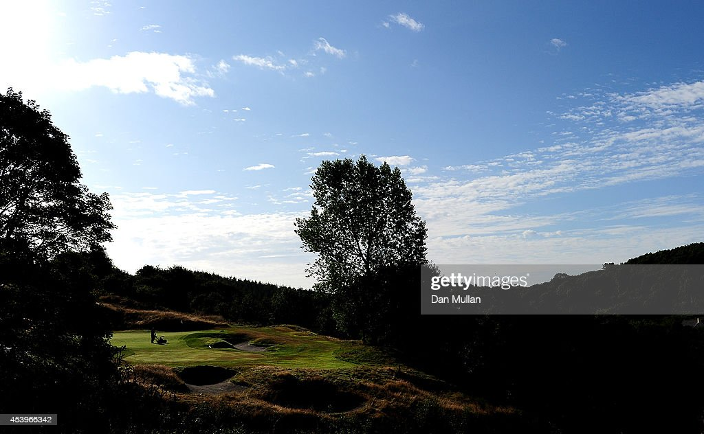 A general view of the 14th hole during day three of the Golfbreakscom PGA Fourball Championship at St Mellion International Resort on August 22 2014...