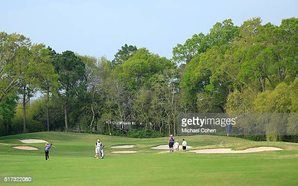 A general view of the 14th hole during the second round of the Chitimacha Louisiana Open presented by NACHER held at Le Triomphe Golf and Country...