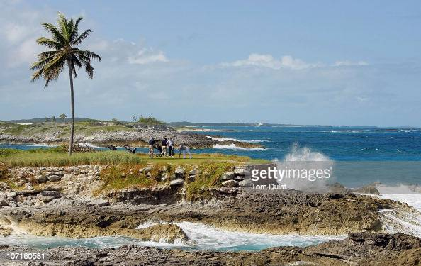 General view of the 14th tee during the Virgin Atlantic PGA National ProAm Championship Practice Round at Sandals Emerald Bay Resort on November 26...