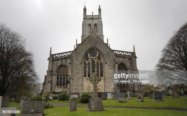 General view of the 15th century All Saints Church in Wrington Somerset whose clock has been silenced by a council's noise abatement notice after new...