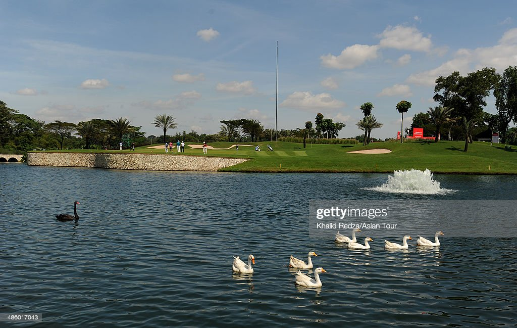 General view of the 15th hole during previews ahead of the CIMB Niaga Indonesian Masters at Royale Jakarta Golf Club on April 22, 2014 in Jakarta, Indonesia.