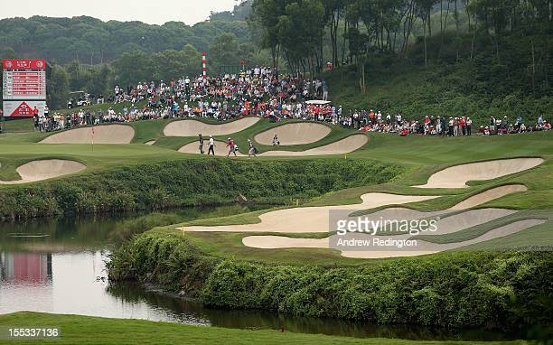 A general view of the 15th hole during the third round of the WGC HSBC Champions at the Mission Hills Resort on November 3 2012 in Shenzhen China