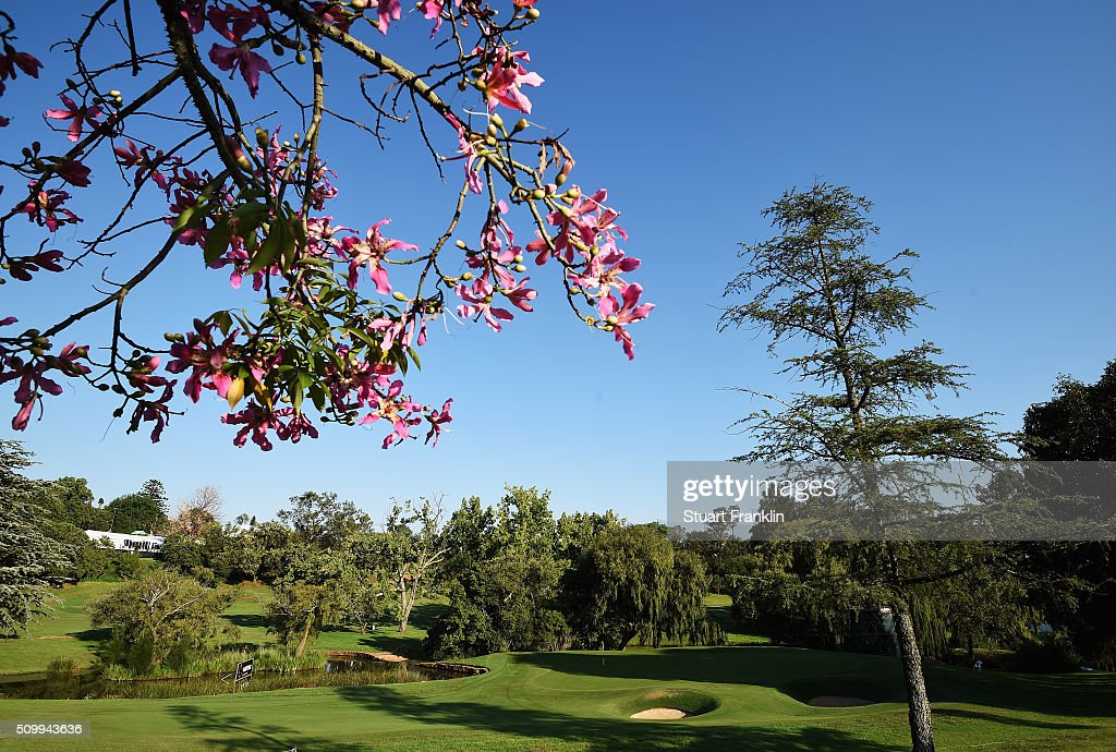 A general view of the 16th hole before the third round of the Tshwane Open at Pretoria Country Club on February 13, 2016 in Pretoria, South Africa.