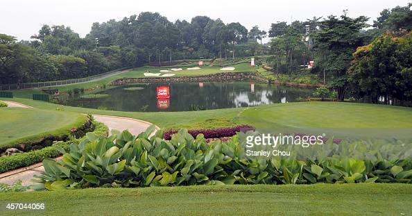General view of the 16th hole during day three of the Sime Darby LPGA at Kuala Lumpur Golf Country Club on October 11 2014 in Kuala Lumpur Malaysia
