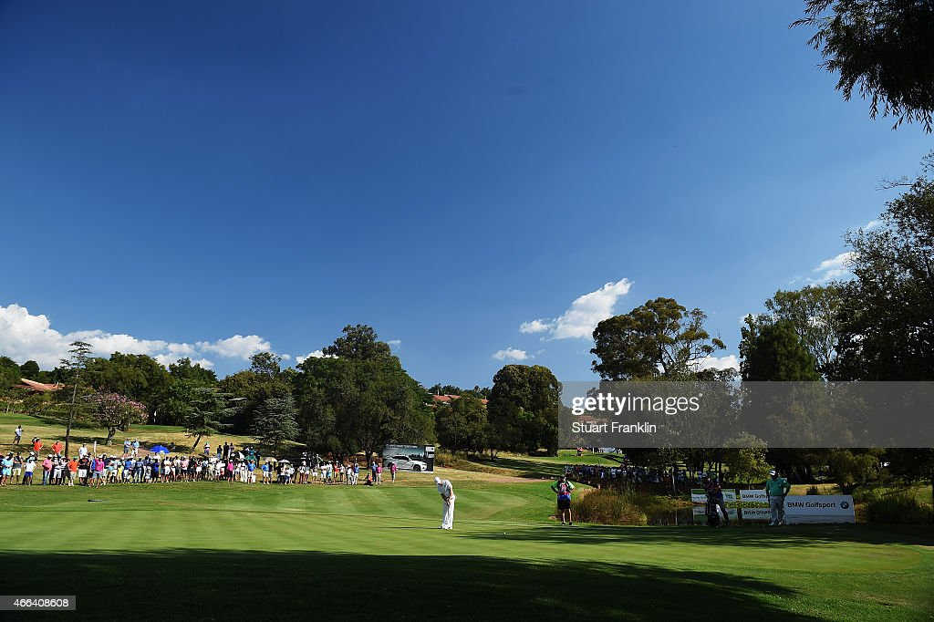 A general view of the 16th hole during the final round of the Tshwane Open at Pretoria Country Club on March 15 2015 in Pretoria South Africa