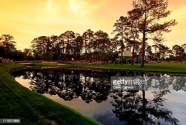 A general view of the 16th hole during the second round of the 2011 Masters Tournament at Augusta National Golf Club on April 8 2011 in Augusta...