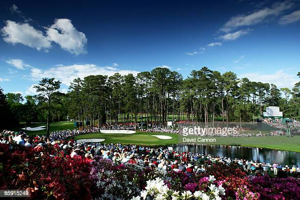 A general view of the 16th hole during the third round of the 2009 Masters Tournament at Augusta National Golf Club on April 11 2009 in Augusta...