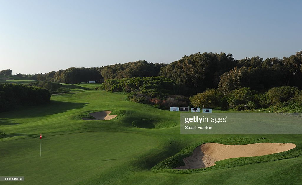 A general view of the 16th hole prior to the start of the Trophee du Hassan II Golf at the Golf du Palais Royal on March 30 2011 in Agadir Morocco
