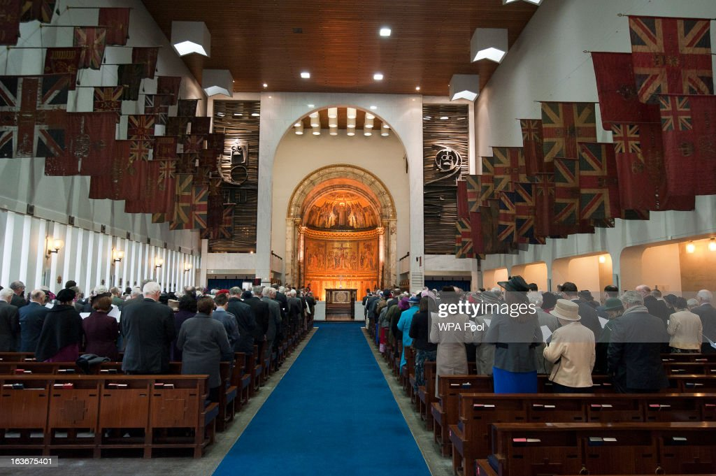 A general view of the 175th anniversary of the Soldier's and Airmen's Scripture Association, at the Guards Chapel on March 14, 2013 in London, England.