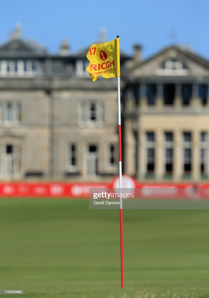 General View of the 17th green and flagstick during the second round of the Ricoh Women's British Open at the Old Course, St Andrews on August 2, 2013 in St Andrews, Scotland.