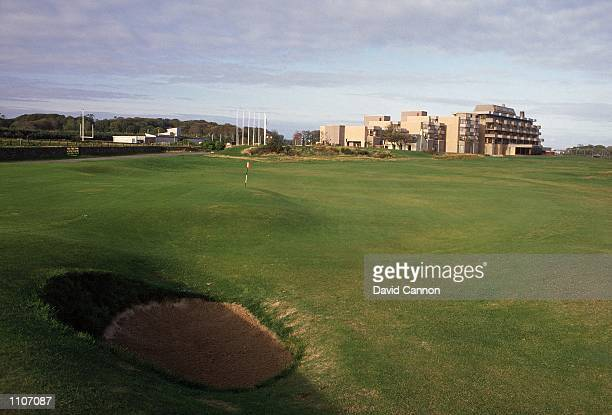 General view of the 17th green and the Old Course Hotel on the Old Course at St Andrews in Fife Scotland Mandatory Credit David Cannon /Allsport