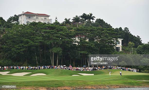 A general view of the 17th hole during the final round of the Shenzhen International at Genzon Golf Club on April 19 2015 in Shenzhen China