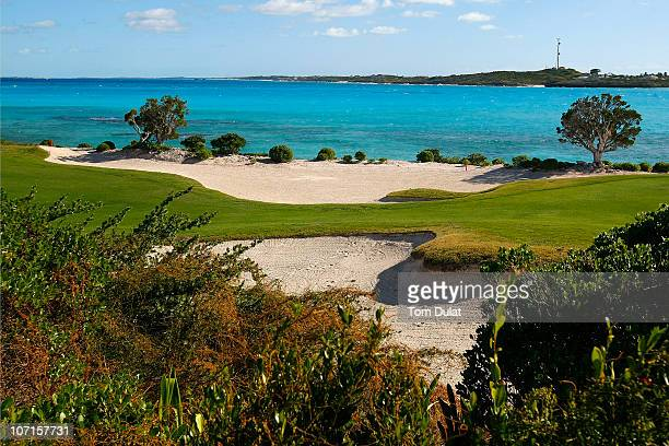 General view of the 17th hole during the Virgin Atlantic PGA National ProAm Championship Practice Round at Sandals Emerald Bay Resort on November 26...