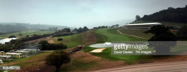 General view of the 18th green and fairway of the Twenty Ten Course at Celtic Manor used for the 2010 Ryder Cup at Celtic Manor Golf Course Newport...