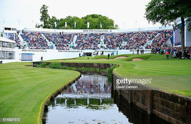 General View of the 18th green during day 3 of the BMW PGA Championship at Wentworth on May 23 2015 in Virginia Water England