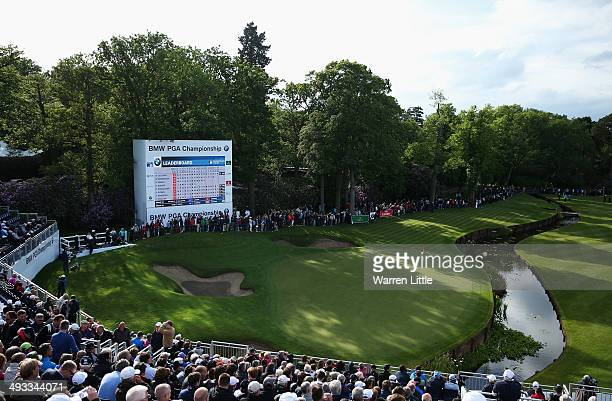 General View of the 18th green during day two of the BMW PGA Championship at Wentworth on May 23 2014 in Virginia Water England