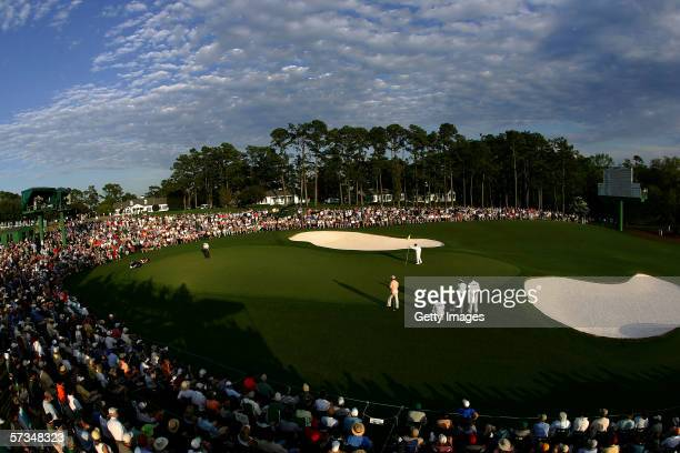 A general view of the 18th green during the 2nd Round of The Masters at the Augusta National Golf Club on April 7 2006 in Augusta Georgia