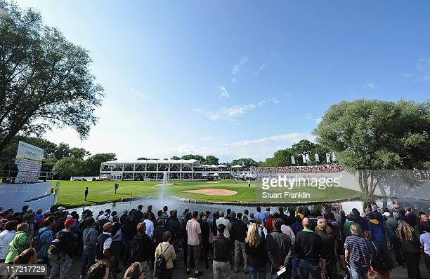 A general view of the 18th green during the second round of the BMW International Open at the Munich North Eichenried Golf Club on June 24 2011 in...