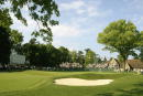 A general view of the 18th green during the second round of the Senior PGA Championship at the Aronimink Golf Club on June 6 2003 in Newtown Square...