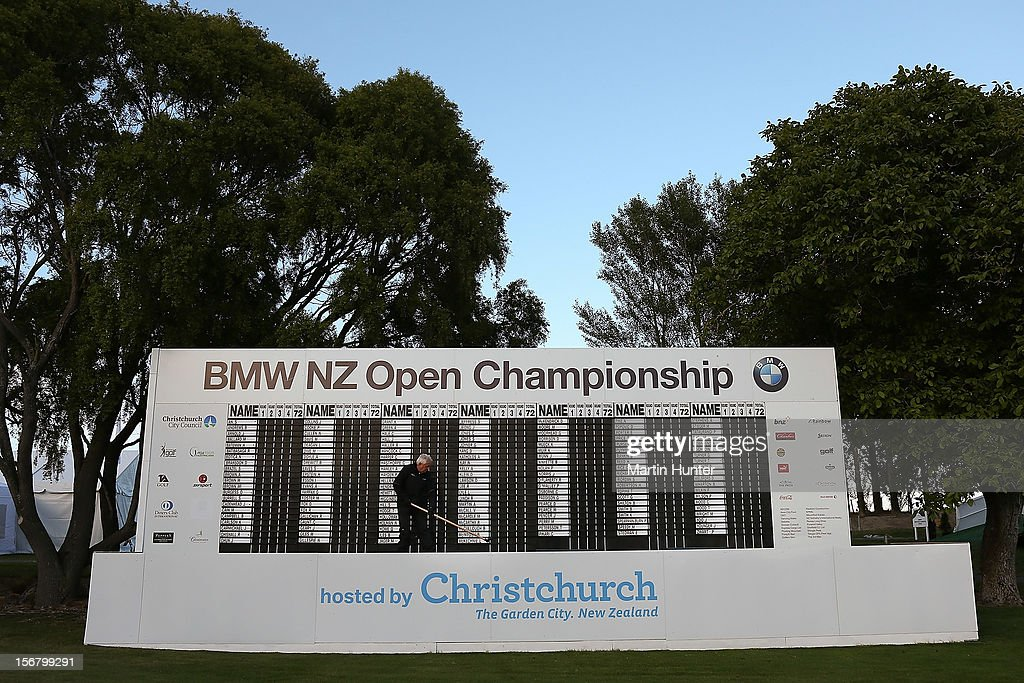 General view of the 18th hole during day one of the New Zealand Open at Clearwater Golf Course on November 22, 2012 in Christchurch, New Zealand.