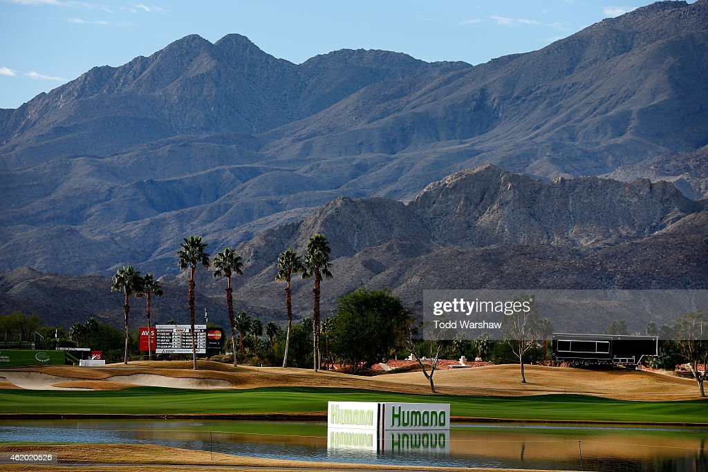 A general view of the 18th hole during round two of the Humana Challenge in partnership with The Clinton Foundation on the Arnold Palmer Private...