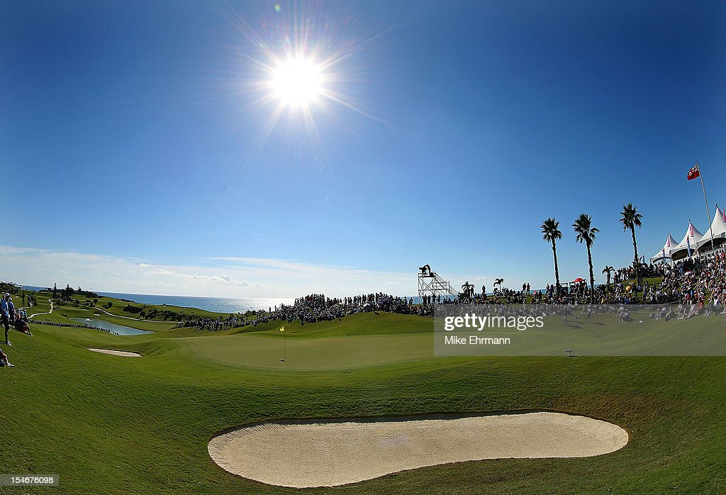 A general view of the 18th hole during the final round of the PGA Grand Slam of Golf at Port Royal Golf Course on October 24, 2012 in Southampton, Bermuda.
