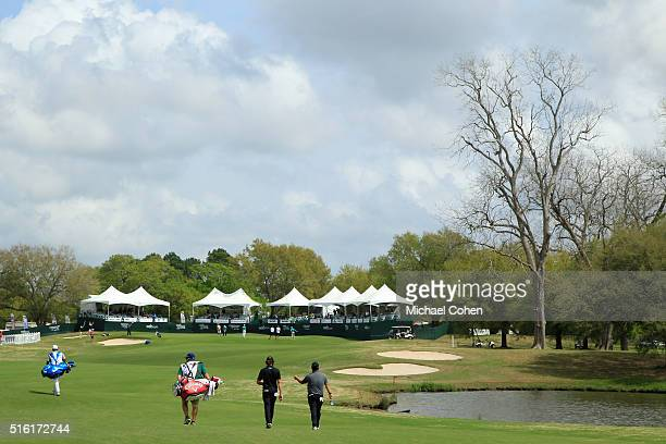 A general view of the 18th hole during the first round of the Chitimacha Louisiana Open presented by NACHER held at Le Triomphe Golf and Country Club...