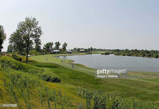 General view of the 18th hole during the third round of the Webcom Tour United Leasing Championship at the Victoria National Golf Club on June 30...