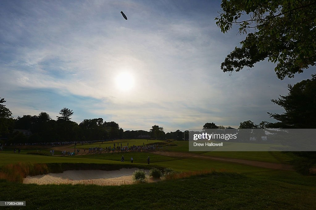 A general view of the 18th hole is seen during Round Three of the 113th U.S. Open at Merion Golf Club on June 15, 2013 in Ardmore, Pennsylvania.