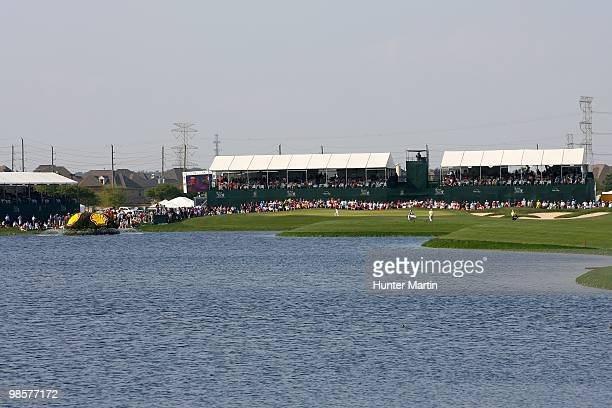 A general view of the 18th hole is seen during the final round of the Shell Houston Open at Redstone Golf Club on April 4 2010 in Humble Texas