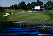 A general view of the 18th hole prior to the start of the KPMG Women's PGA Championship on the West Course at the Westchester Country Club on June 8...