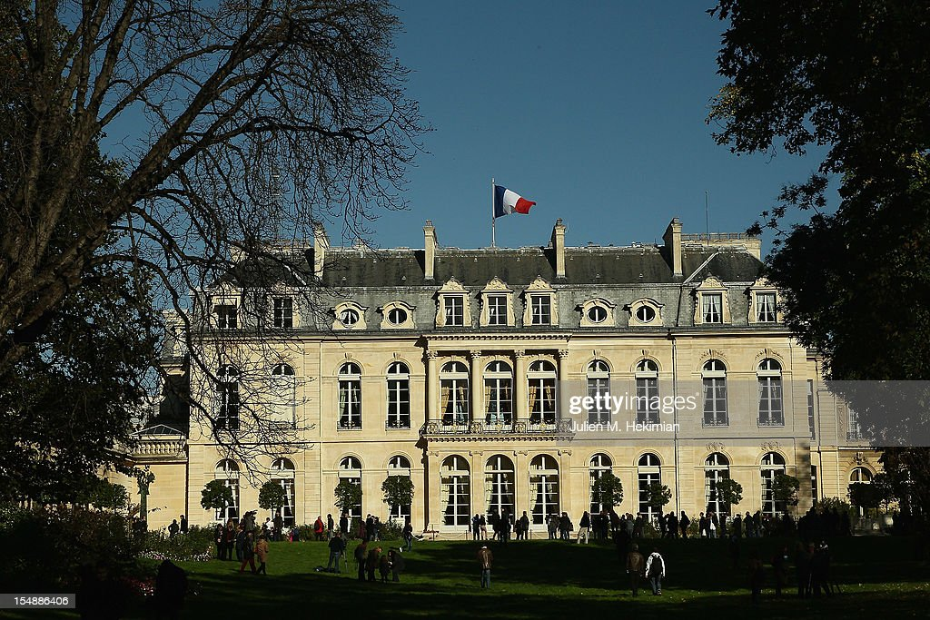 A general view of the 18th-century Elysee Palace gardens on October 28, 2012 in Paris, France. Hundreds of Parisians and tourists took the opportunity to visit the The gardens of France's Presidential palace that are to be opened to the public every last Sunday of the month, a policy that was inaugurated by President Francois Hollande .