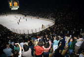 General view of the 1980 Semi Finals between the Buffalo Sabres and the New York Islanders in May 1980 at the Nassau Coliseum in Uniondale New York