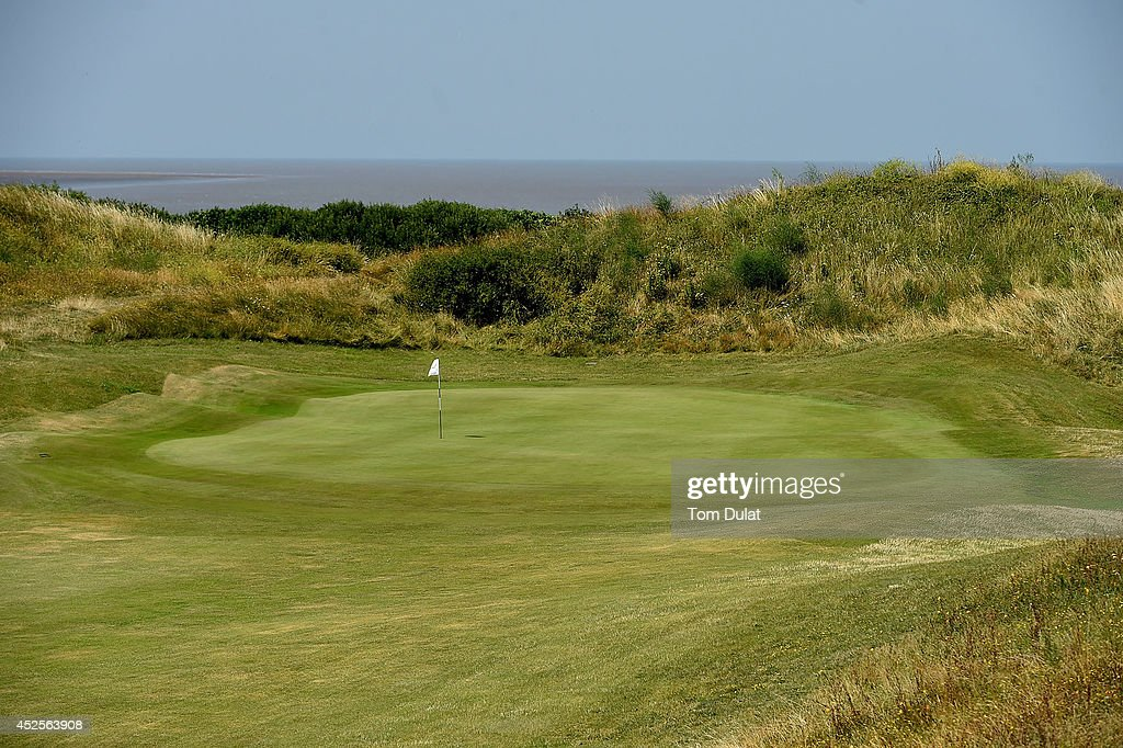 General view of the 1st green during the Lombard Trophy West Regional Qualifier at Burnham and Berrow Golf Club on July 23, 2014 in Burnham-on-Sea, England.